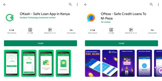 Okash And Opesa Loan Apps